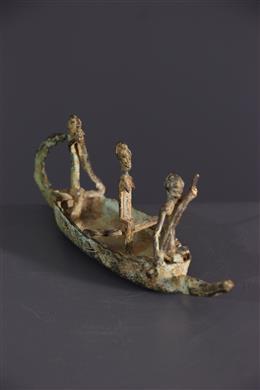 Afrikaanse kunst - Dogon bronzen kano