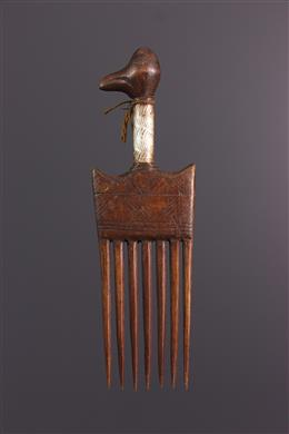 Afrikaanse kunst - Senoufo kam met vogelmotief