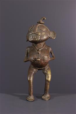 Afrikaanse kunst - Tikar bronzen fetisj